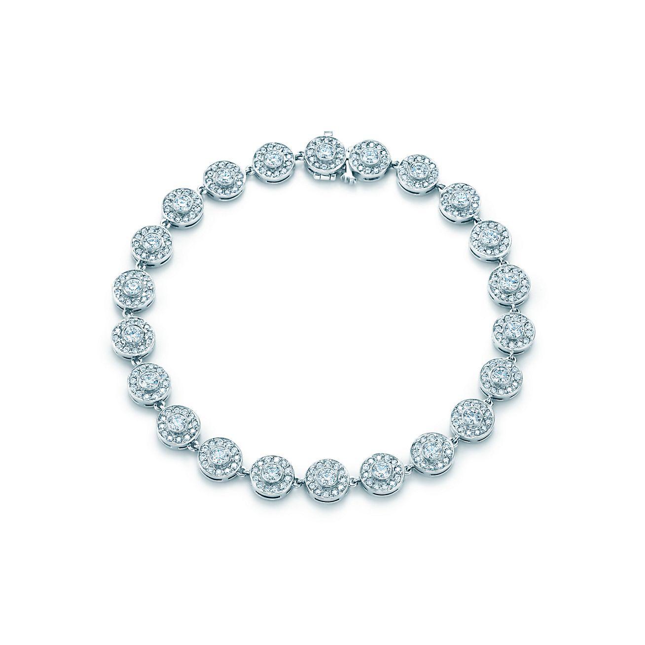Pulseira Tiffany Circlet Com Diamantes Em Platina Tiffany Co