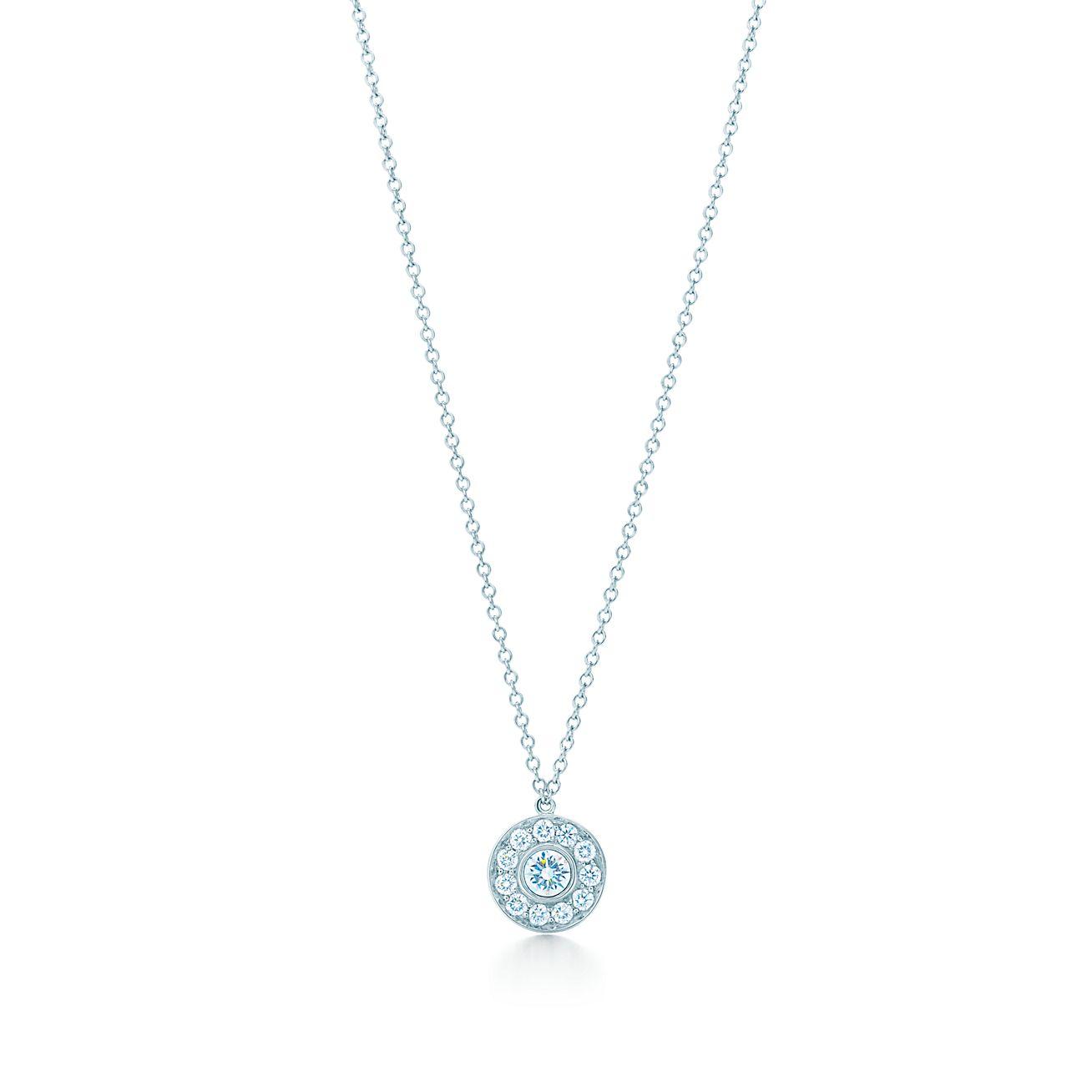 Tiffany Circlet Pendant Of Diamonds In Platinum Tiffany Co
