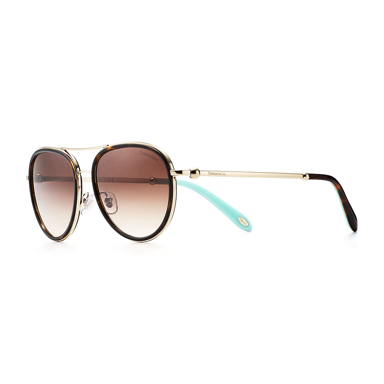 Gafas de sol de aviador Tiffany City HardWear en acetato carey ...