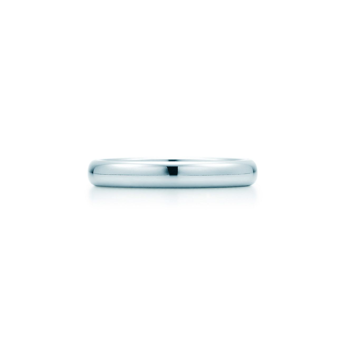Tiffany Classic wedding band ring in platinum 3 mm wide Tiffany