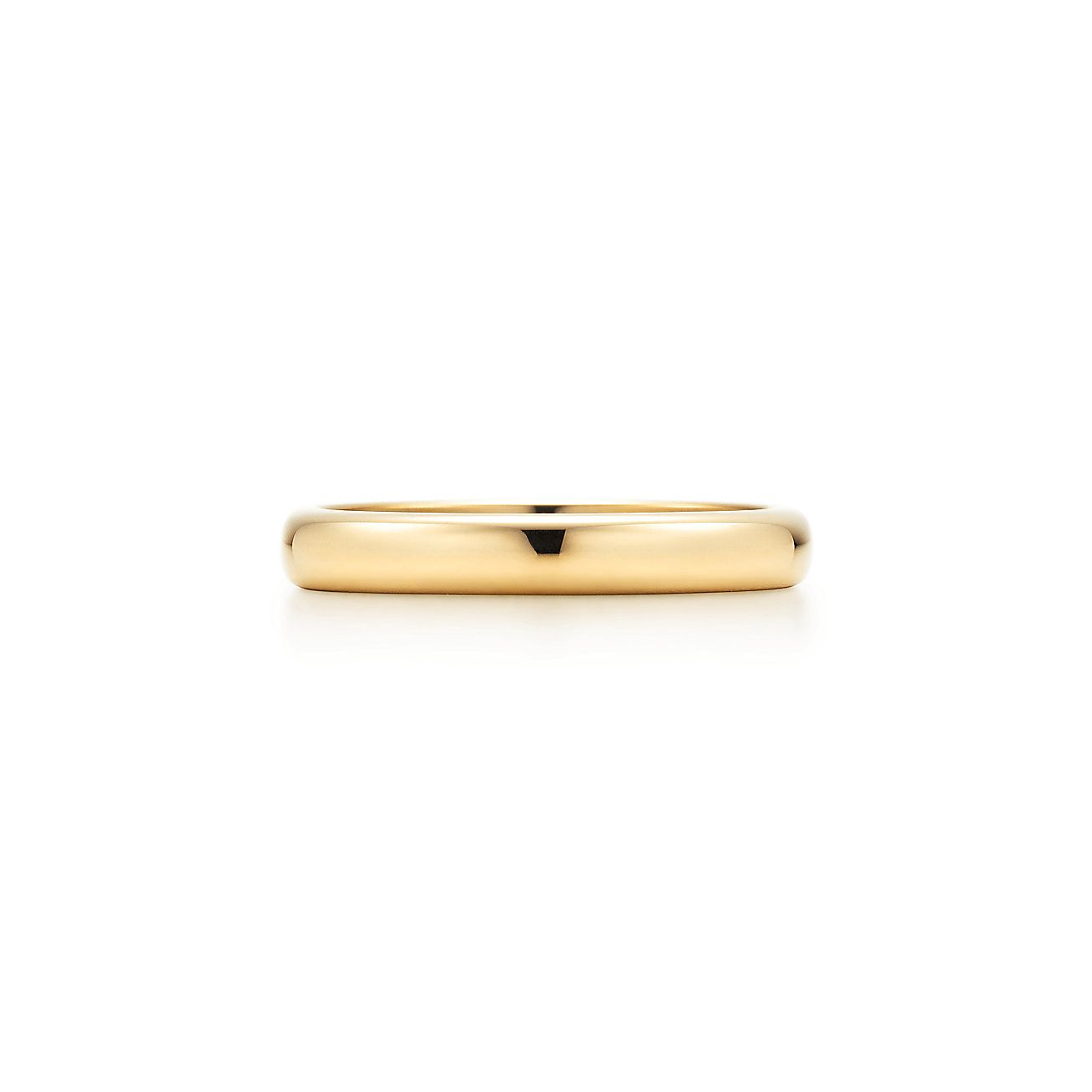 Tiffany Classic Wedding Band Ring In 18k Gold 3 Mm Wide Tiffany Co