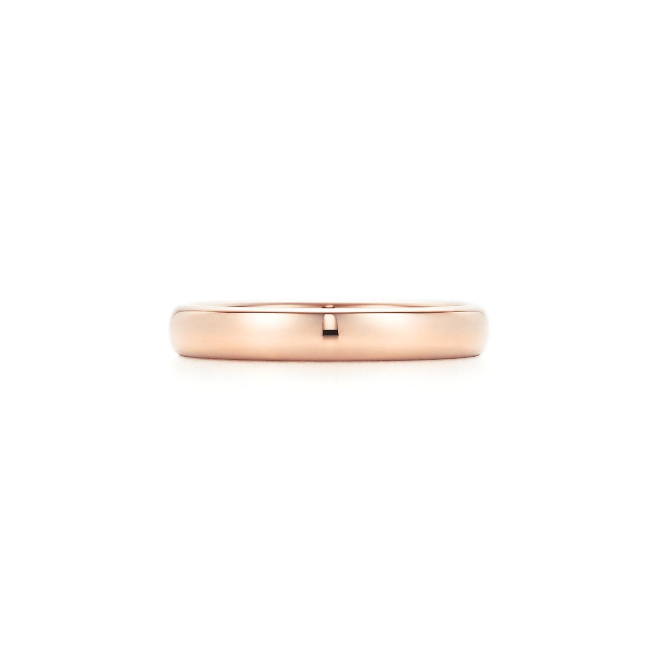 Tiffany Classic wedding band ring in 18k rose gold 3 mm wide