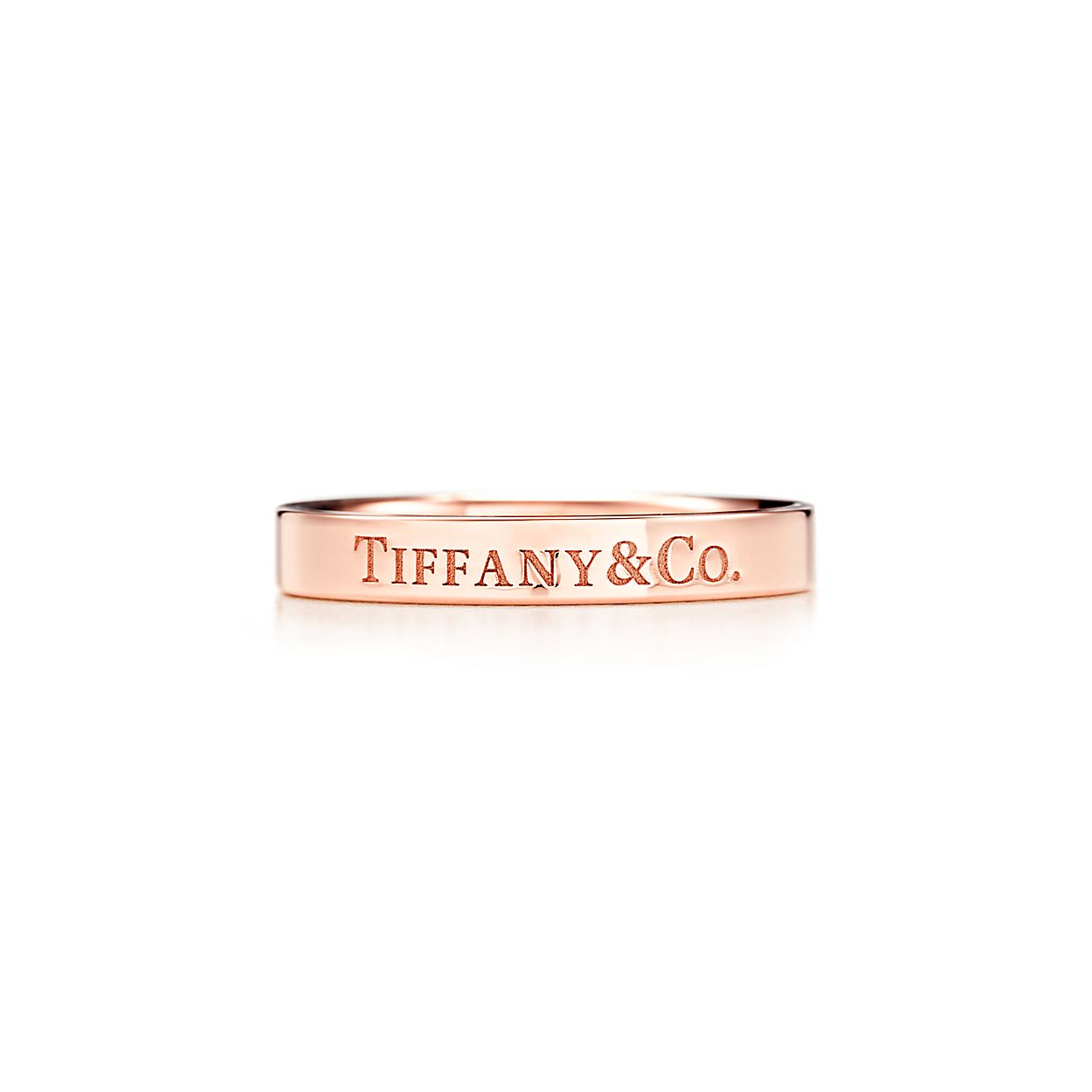 Tiffany Co Band Ring In 18k Rose Gold 3 Mm Wide Tiffany Co