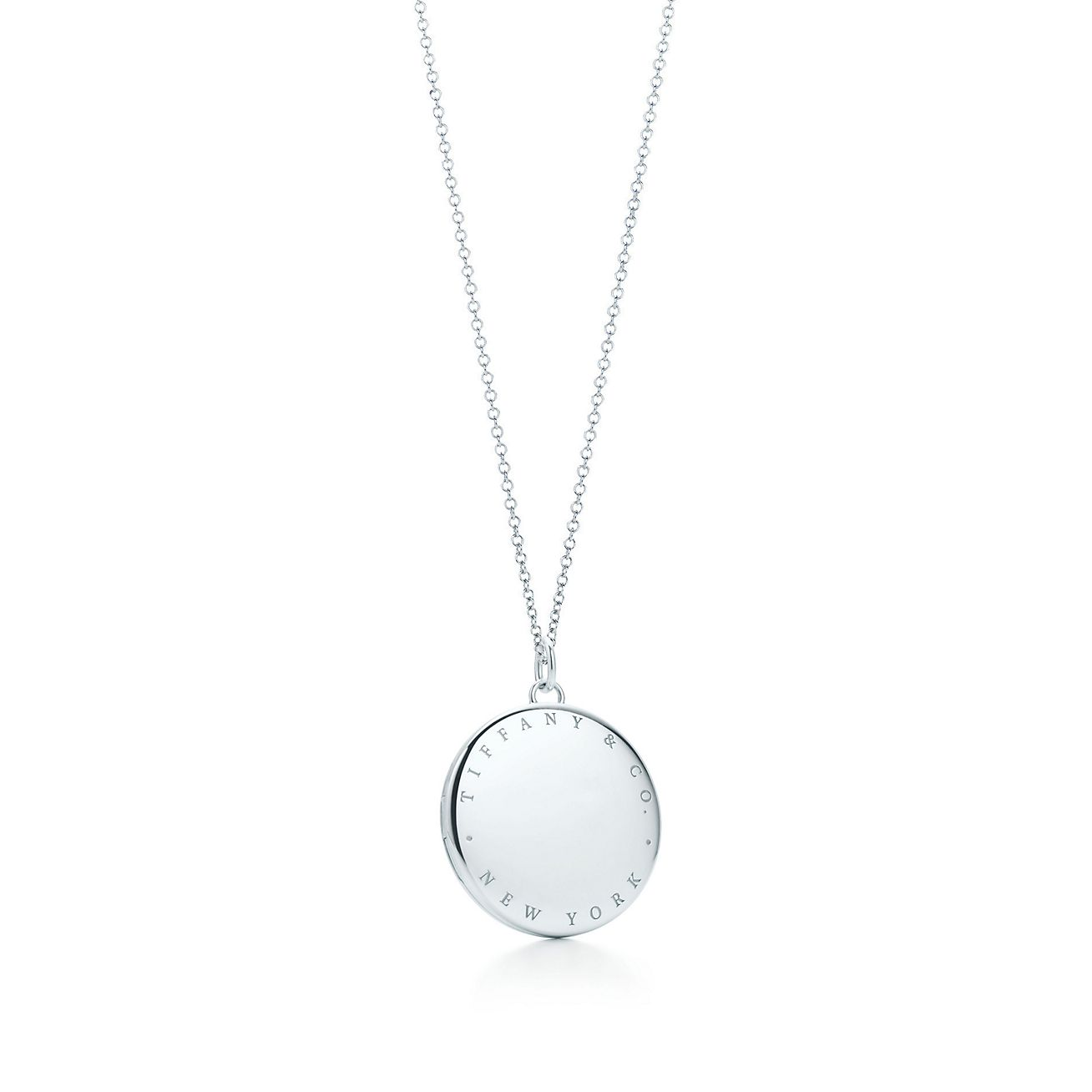 Tiffany co round locket pendant in sterling silver extra large round locket pendant aloadofball Image collections