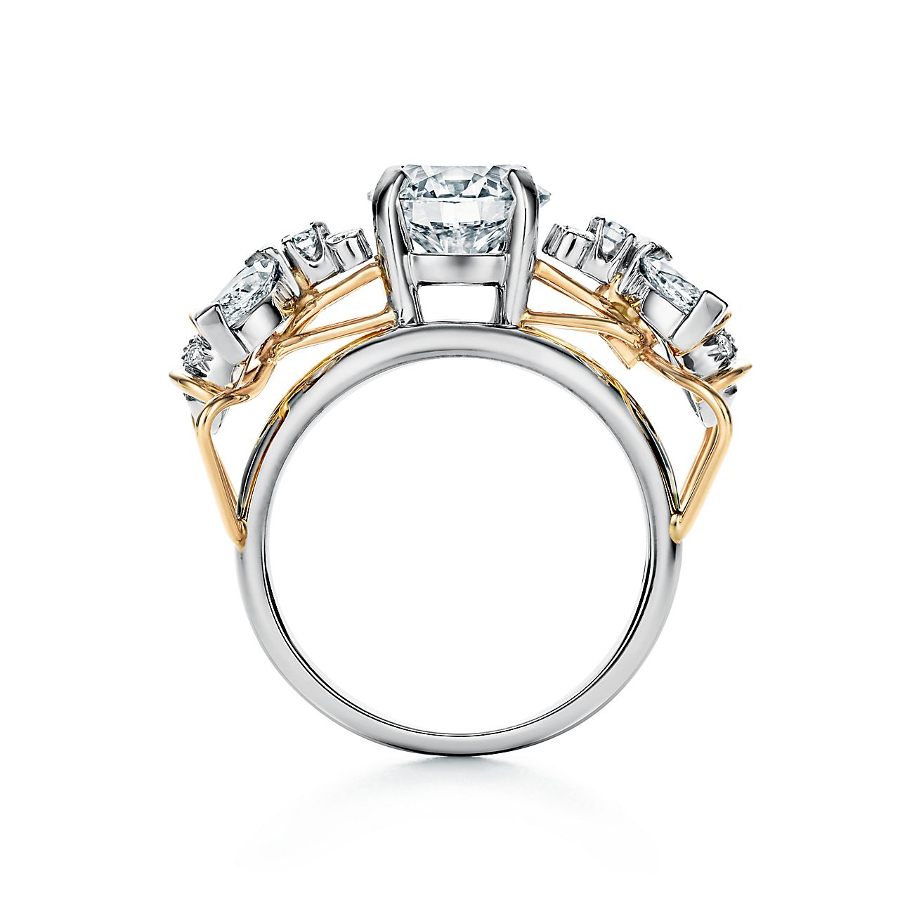 Tiffany Co Schlumberger Two Bees Engagement Ring In Platinum And 18k Gold