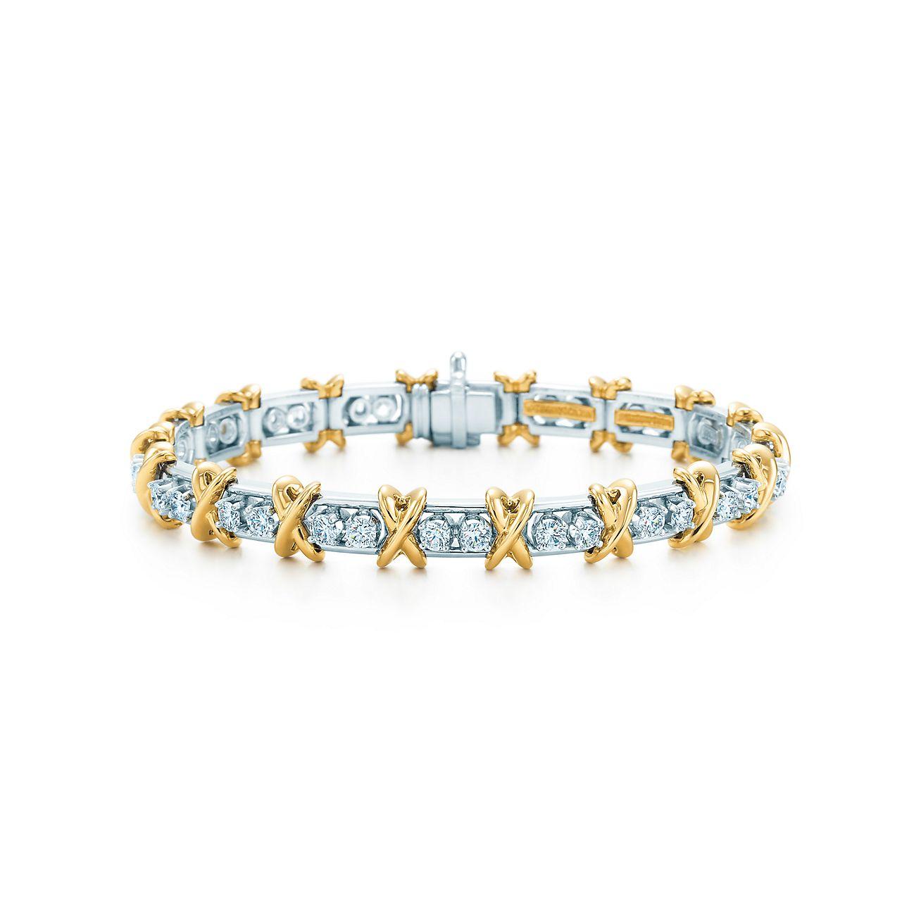 Tiffany Co Schlumberger 36 Stone Bracelet In 18k Gold With Diamonds Tiffany Co