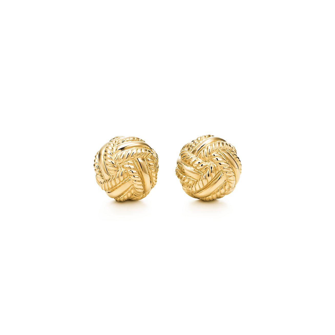 Tiffany Co Schlumberger Love Knot Earrings In 18k Gold Tiffany Co
