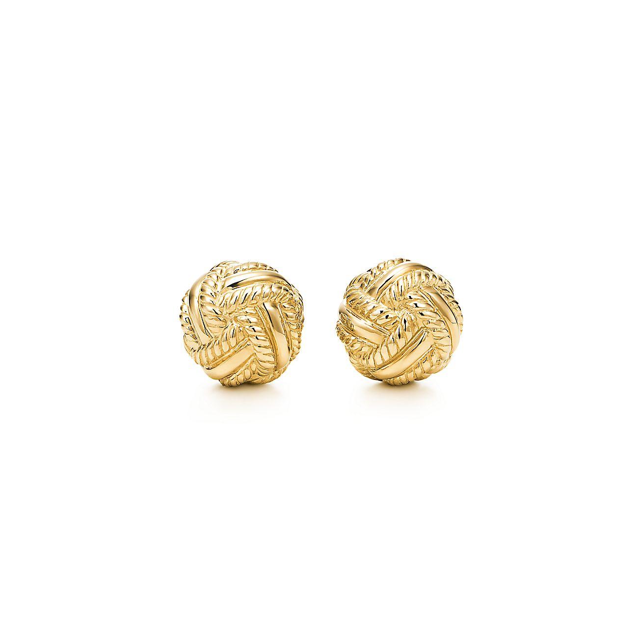 Schlumberger Love Knot Earrings In 18k Gold Tiffany Co