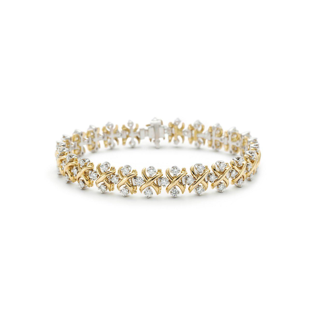 Tiffany Co Schlumberger Lynn Bracelet In Gold With Diamonds Tiffany Co