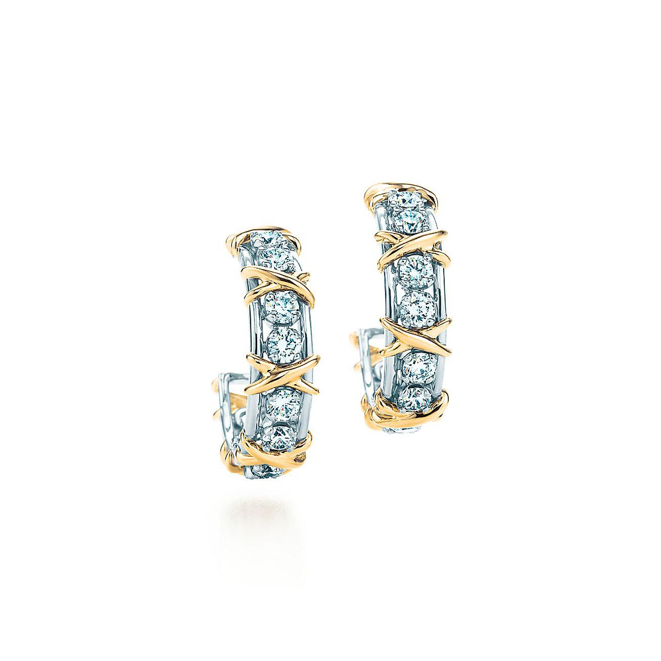Twenty Stone Hoop Earrings
