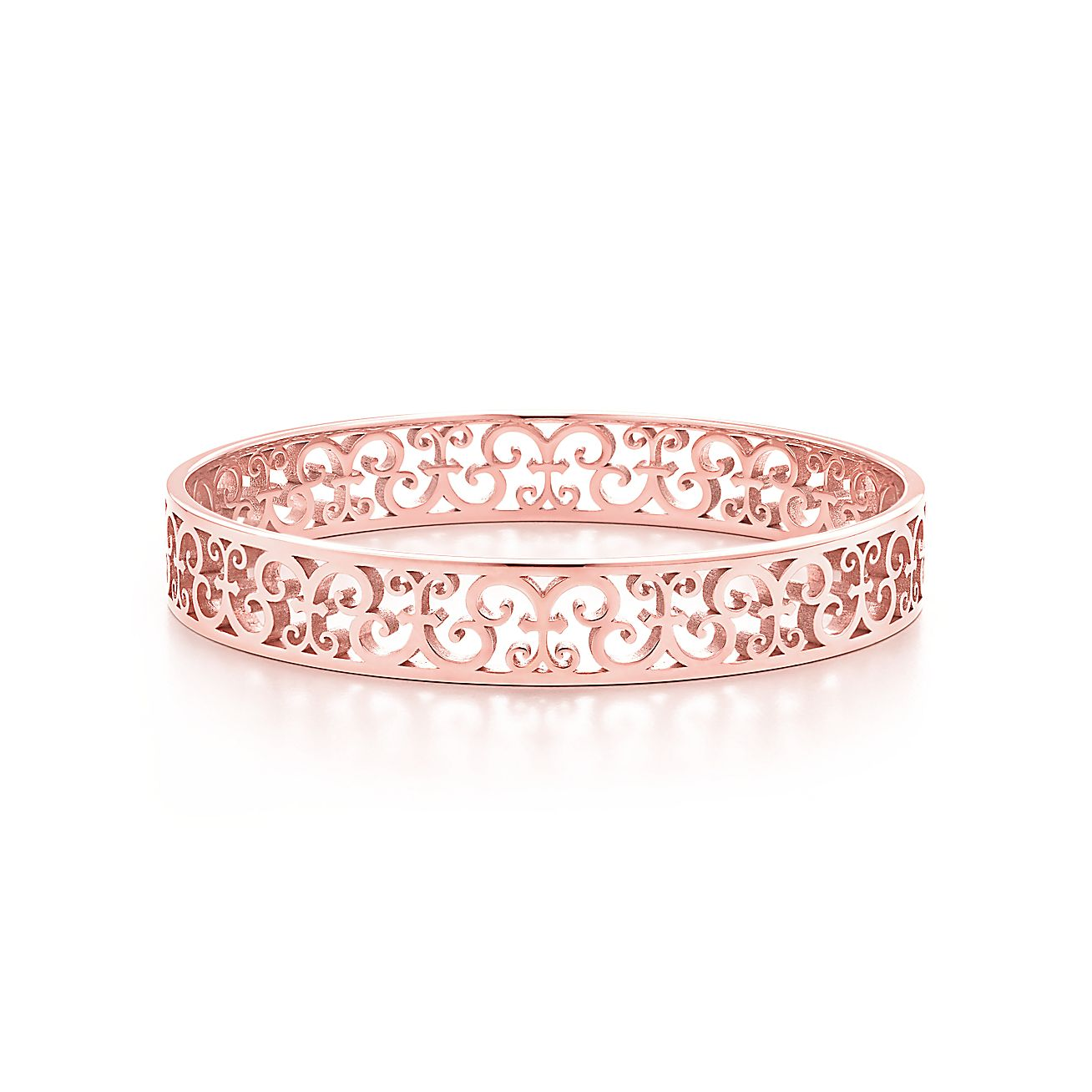Tiffany Enchant® narrow bangle in Rubedo® metal, medium. | Tiffany & Co.
