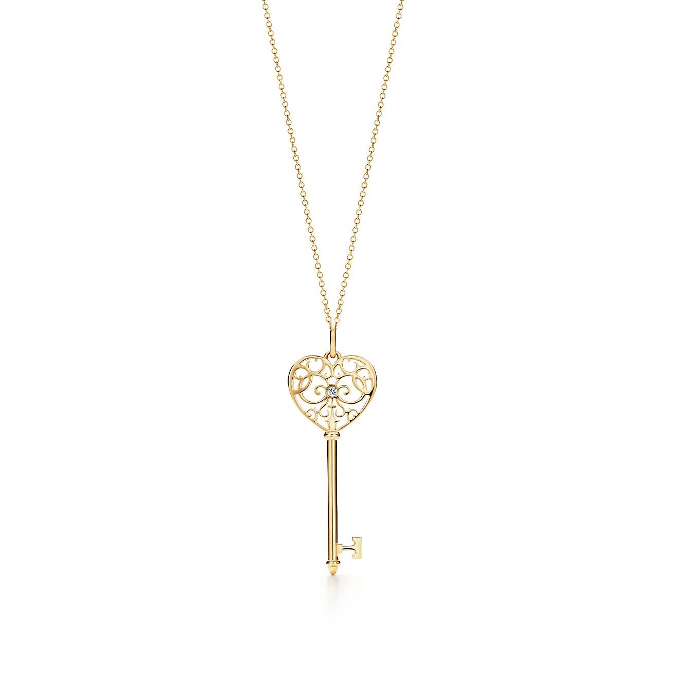 Tiffany enchant heart key pendant in 18k gold with diamonds tiffany enchant heart key pendant in 18k gold with diamonds tiffany co aloadofball Image collections