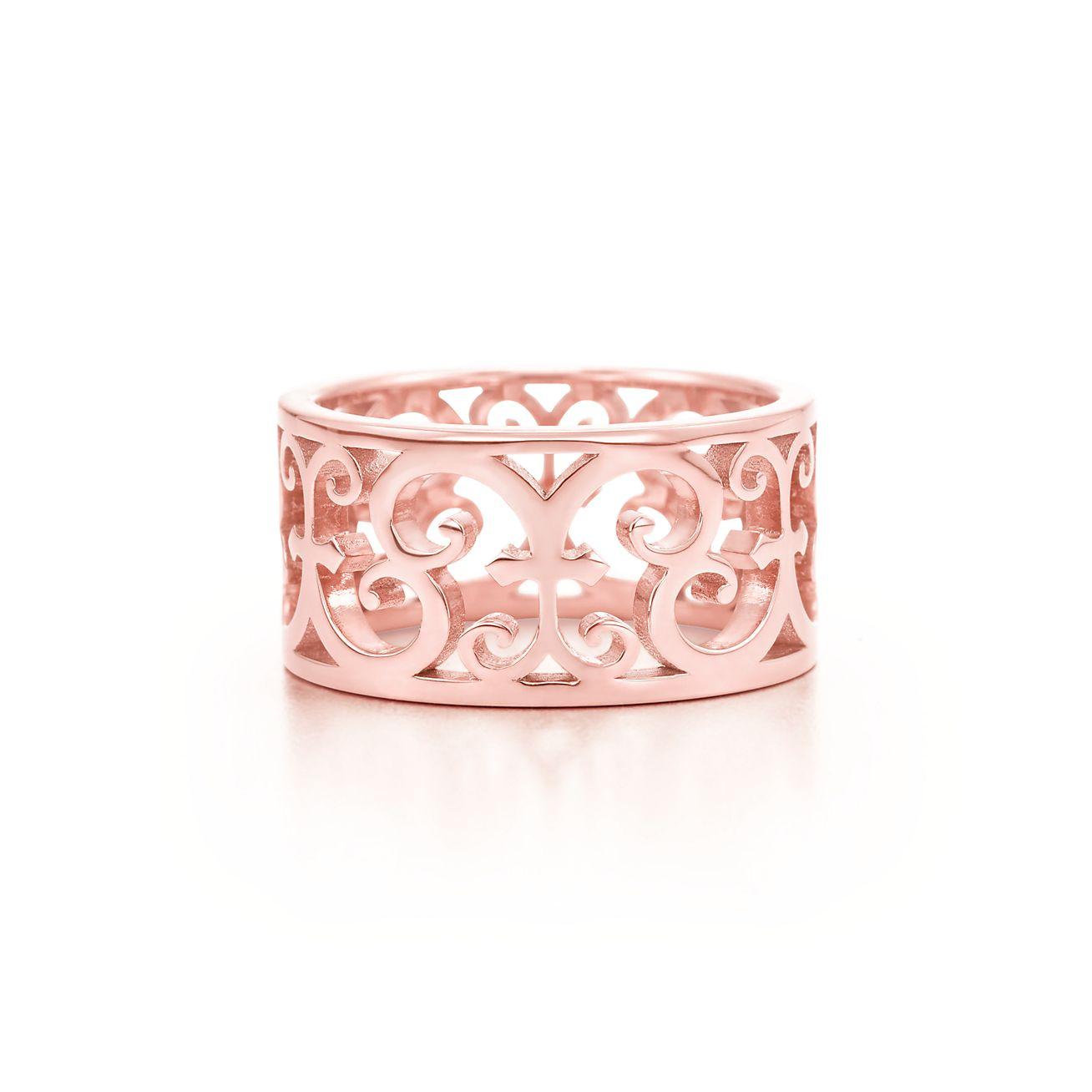 Tiffany Enchant® wide ring in Rubedo® metal. | Tiffany & Co.