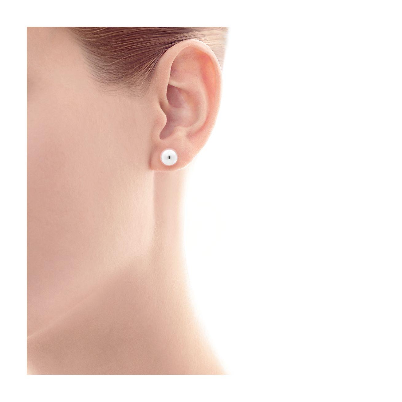 Sterling Silver Ball Stud Earrings Silver ball studs 925 Black diamonds Studs Tiny Silver stud earrings Sterling Silver Ball Earrings