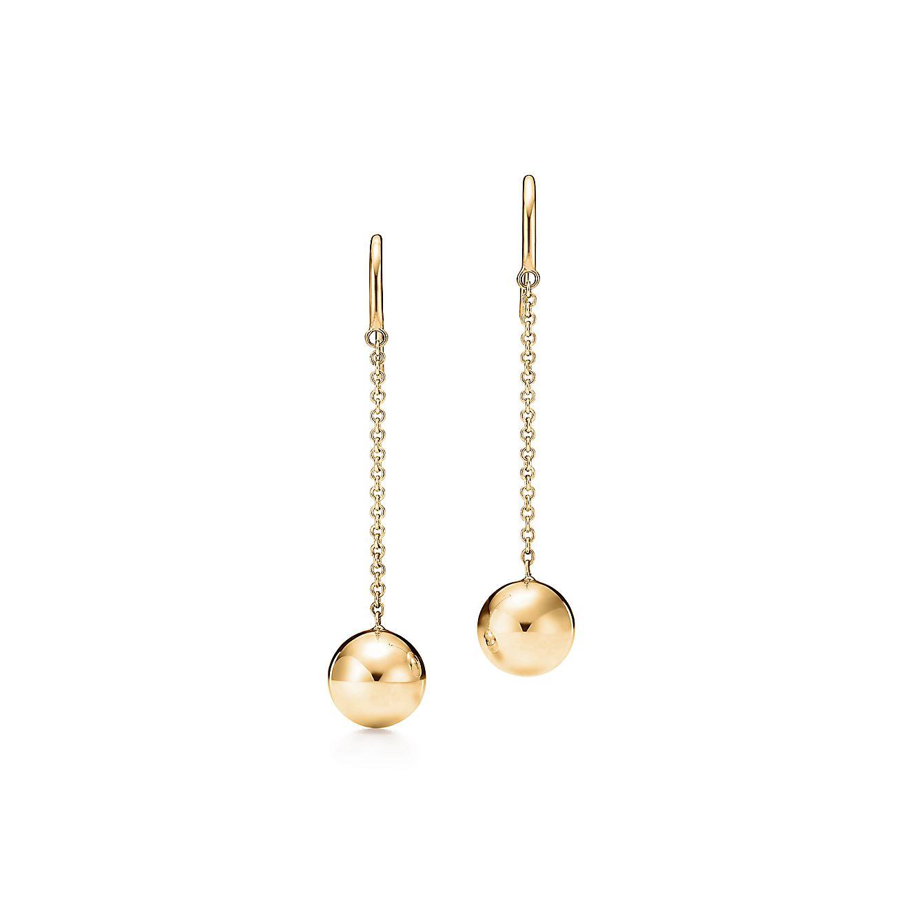18k Gold Ball Hook Earrings