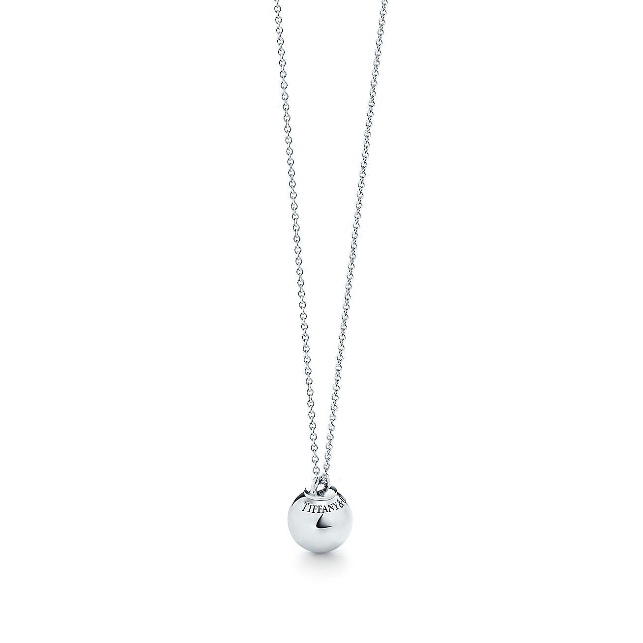 3a85afc33 Tiffany Hardwear Sterling Silver Ball Pendant Co. Tiffany Co Atlas Tag Pendant  Necklace ...