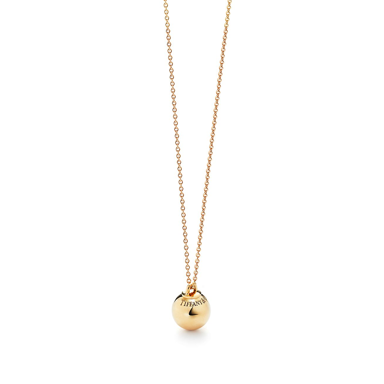 7ac1d08541c2 Shop Tiffany HardWear 18K Gold Ball Pendant