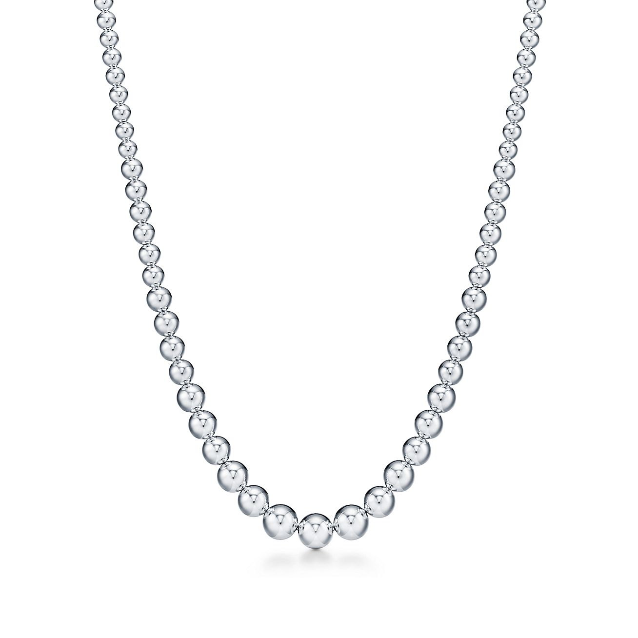Latest Beads NecklaceAdjustable Threads Ball NecklaceUnique Silver Bead NecklaceWomen Fashion Long NecklaceHandmade Thread Necklace Gift