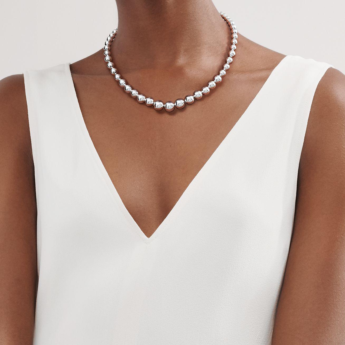 Tiffany Hardwear Graduated Ball Necklace In Sterling Silver Tiffany Co