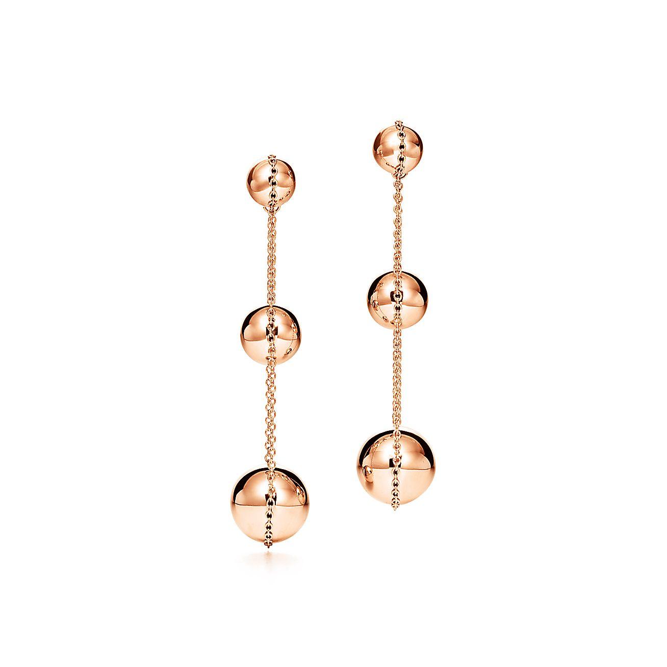 Tiffany HardWear triple drop earrings in 18k rose gold. | Tiffany ...