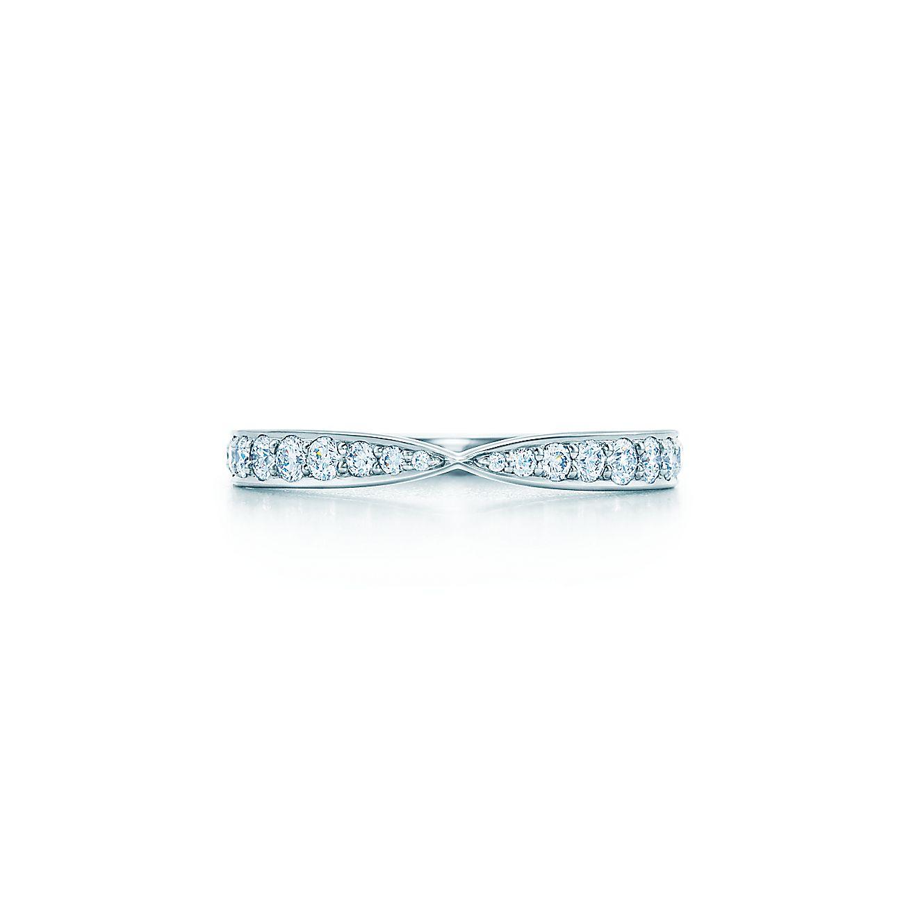 Tiffany Harmony Ring In Platinum With Bead Set Diamonds Co