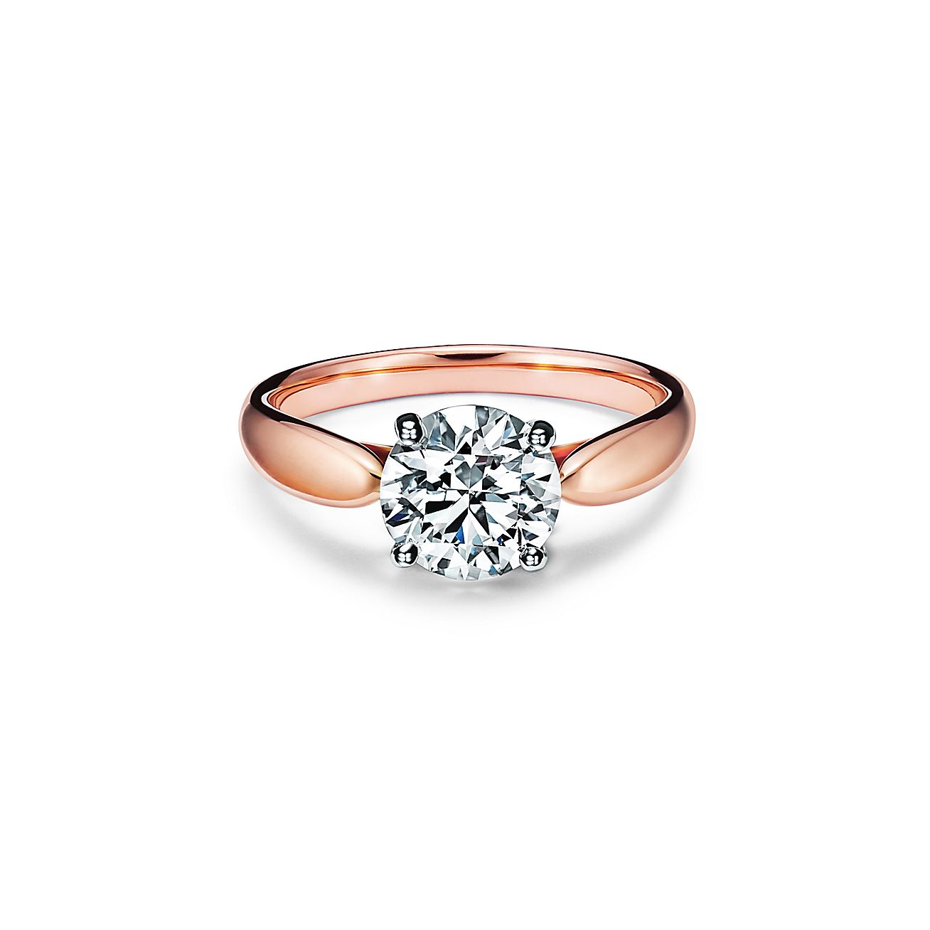 Tiffany Harmony Engagement Ring In 18k Rose Gold A Study In Balance And Grace Tiffany Co