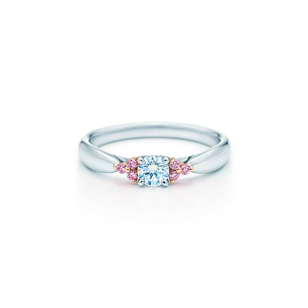 kl rings diamonds engagement jewellery ring pink round diamond products