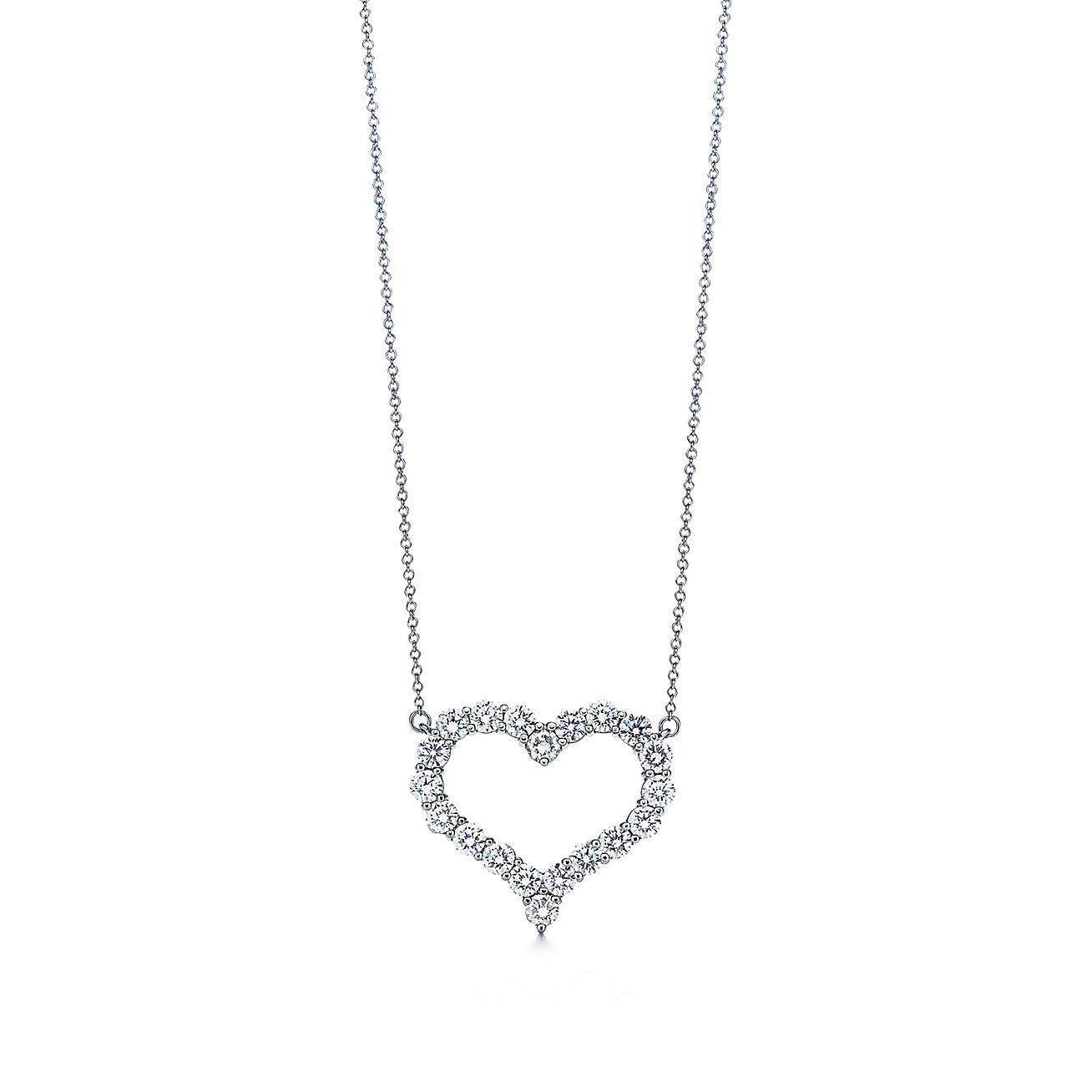 Tiffany hearts pendant of diamonds in platinum large tiffany co mozeypictures Images