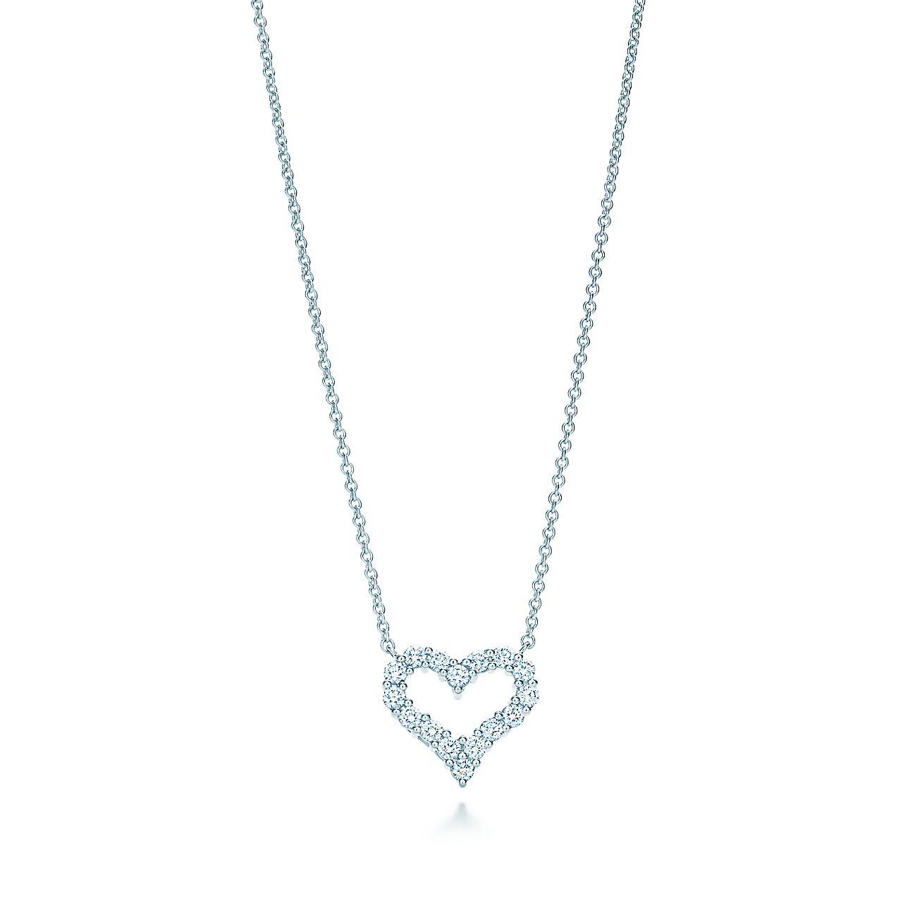 1c396f22a Tiffany Heart Pendant With Diamonds - Pendant Design Ideas