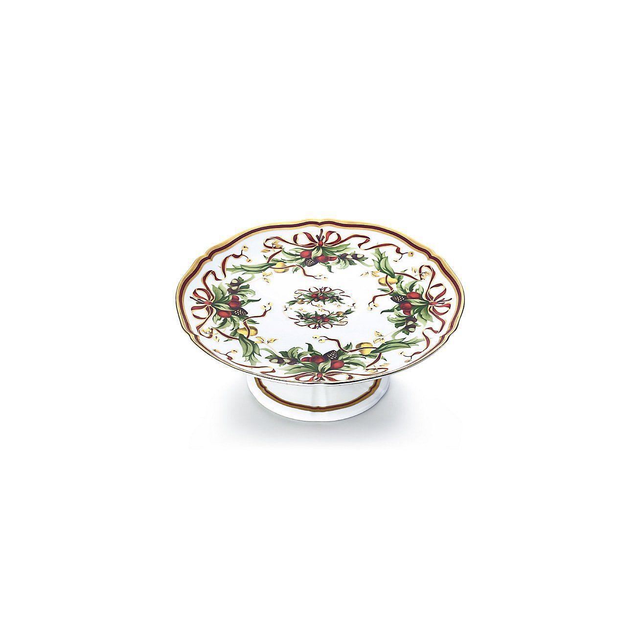 sc 1 st  Tiffany & Tiffany Holiday™ footed cake plate in porcelain. | Tiffany \u0026 Co.