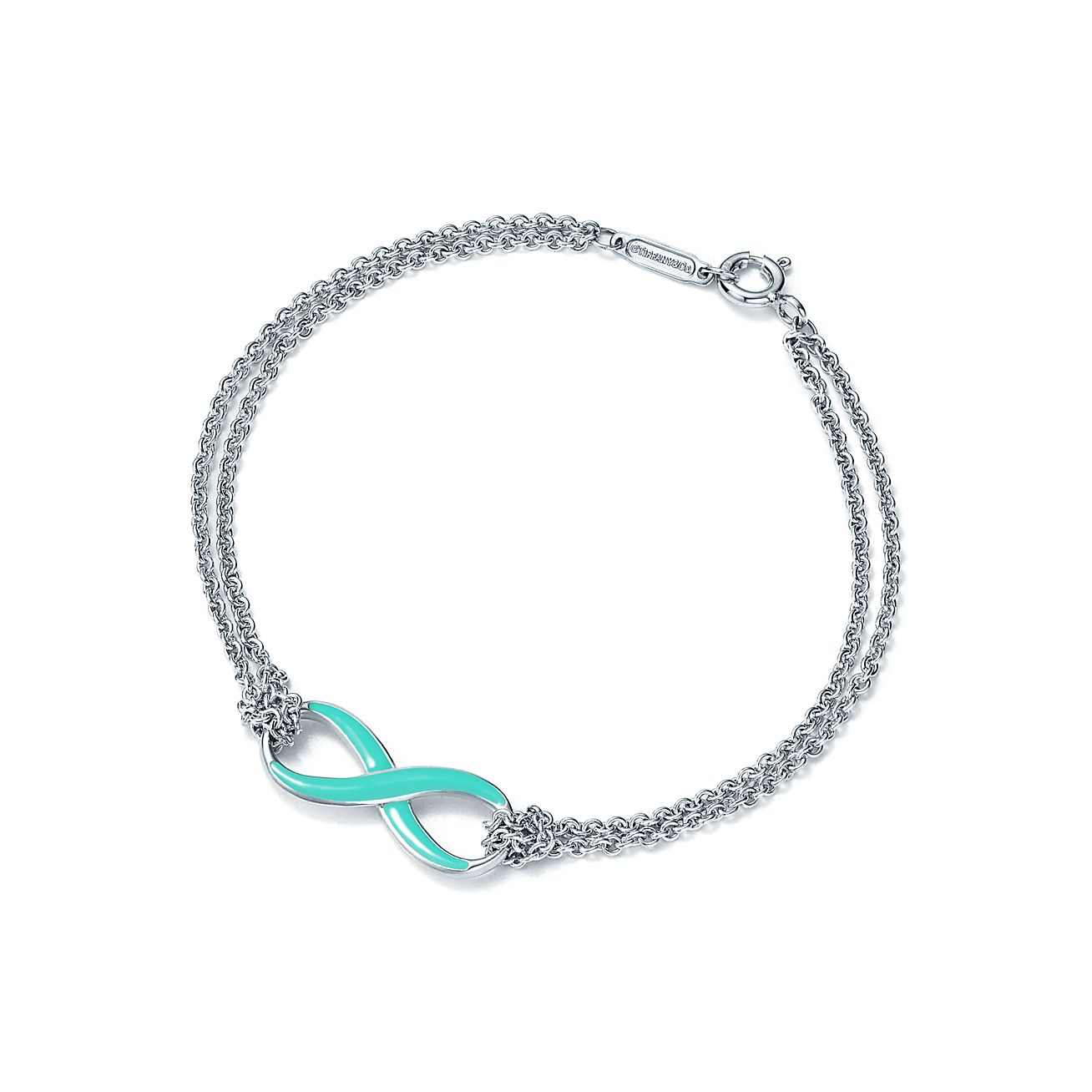 Sterling Silver Infinity Symbol Bracelet In Tiffany Blue Tiffany