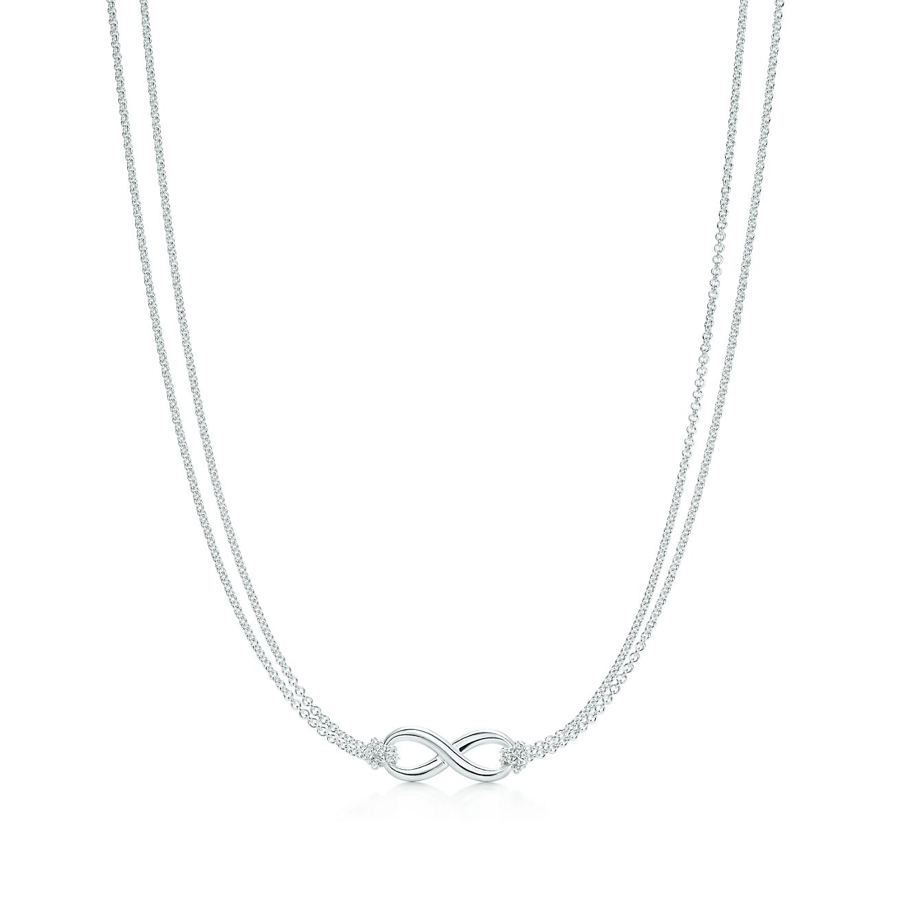Tiffany Infinity pendant in sterling silver on a 18
