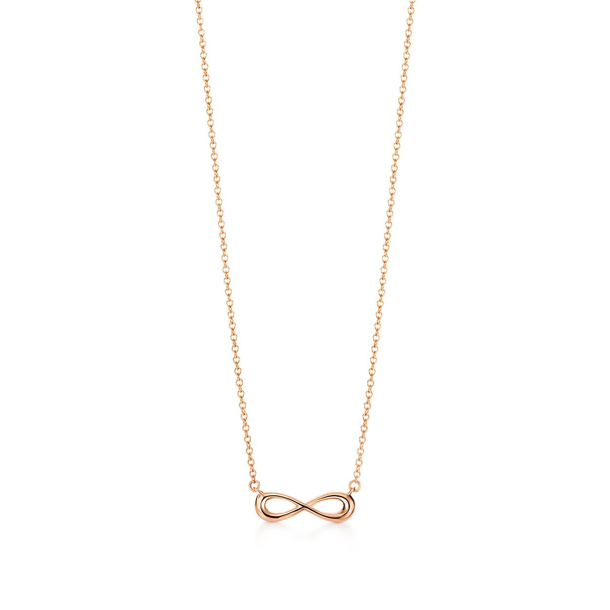 Tiffany Infinity Pendant In 18k Rose Gold Mini Tiffany Co