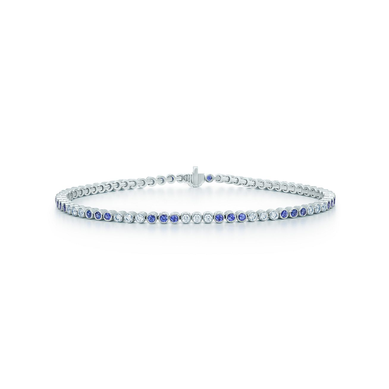 Tiffany Jazz Bracelet In Platinum With Diamonds And Sapphires Tiffany Co