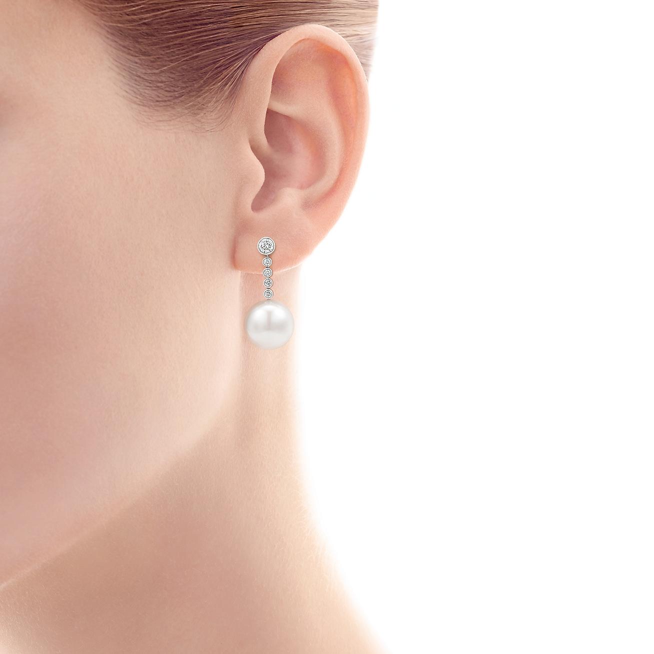 Earrings Tiffany Jazz South Sea Pearl Model Shot 1