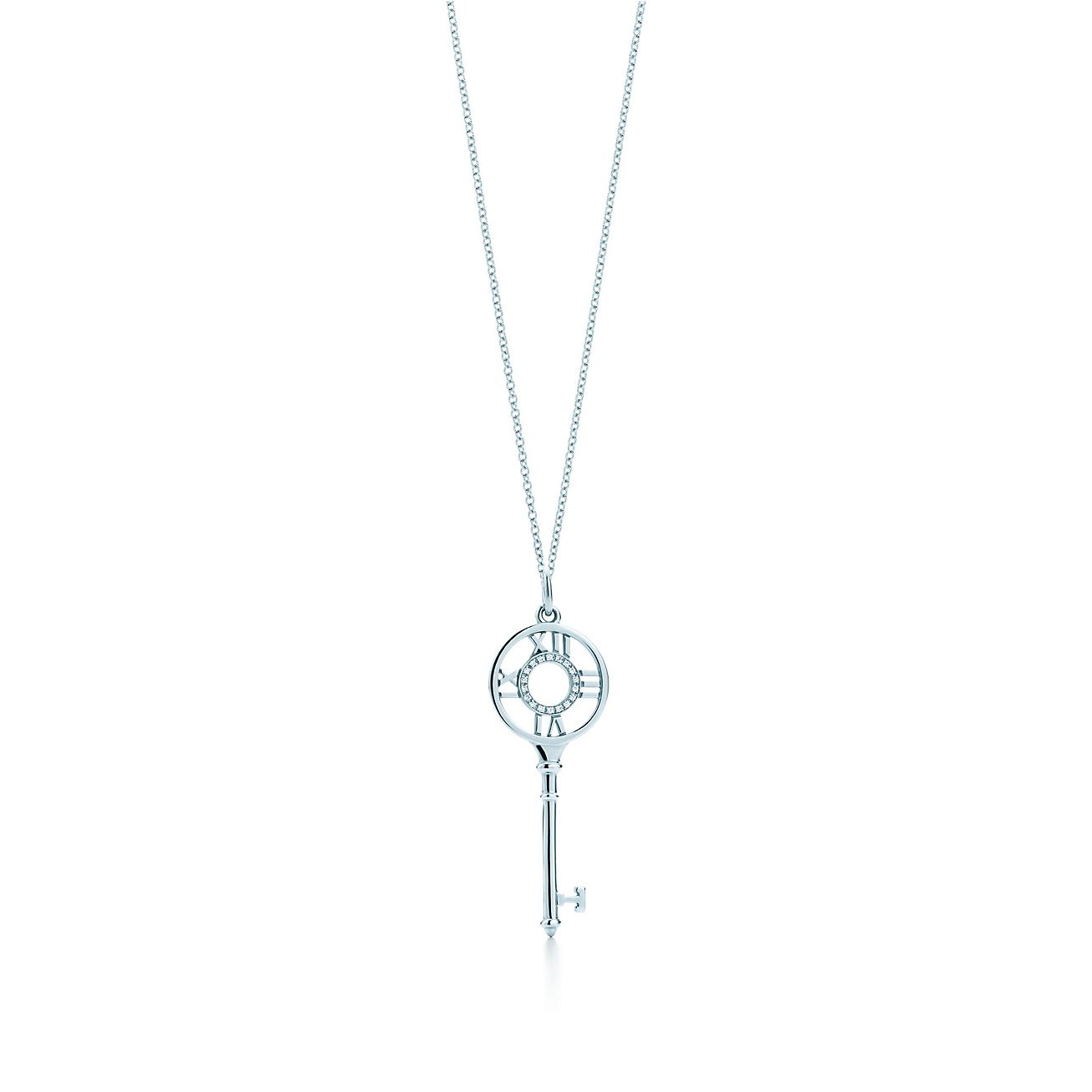 Tiffany keys atlas key pendant in 18k white gold with diamonds tiffany keysatlas key pendant aloadofball