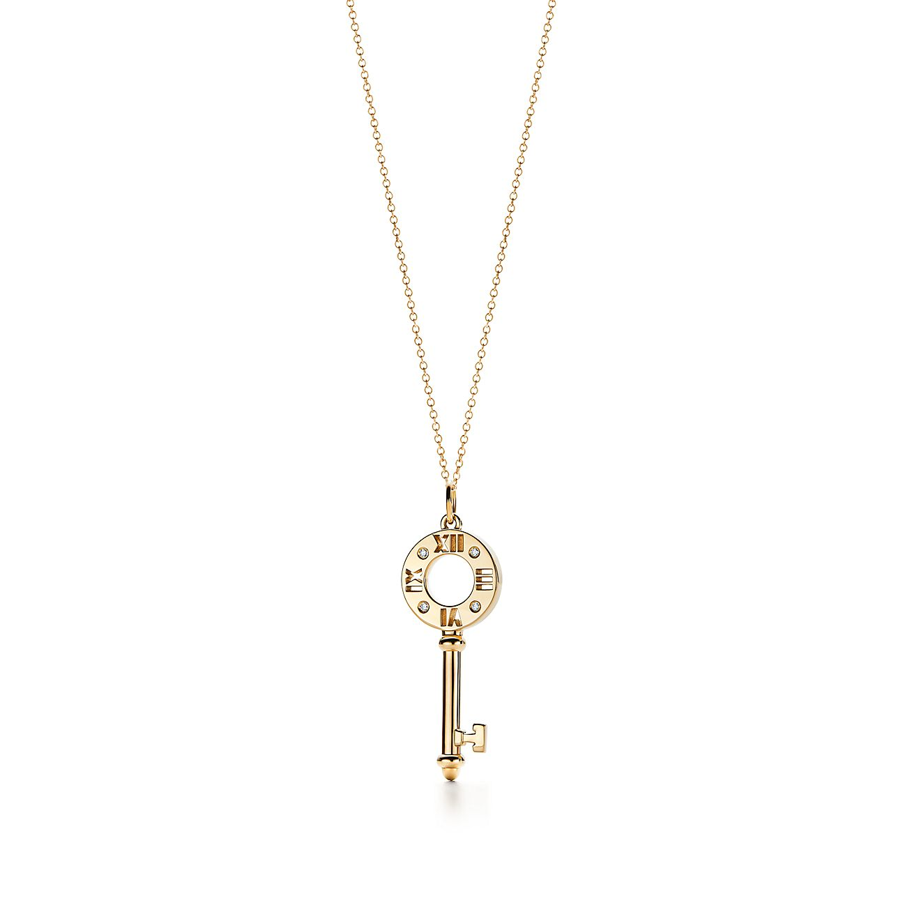 Atlas pierced pendant in 18k gold with diamonds, small Tiffany & Co.