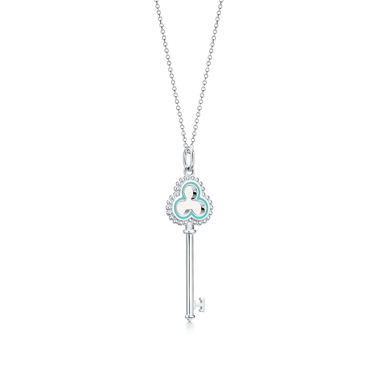 Tiffany keys beaded open trefoil key pendant in sterling silver tiffany keysbeaded open trefoilbrkey pendant aloadofball Gallery