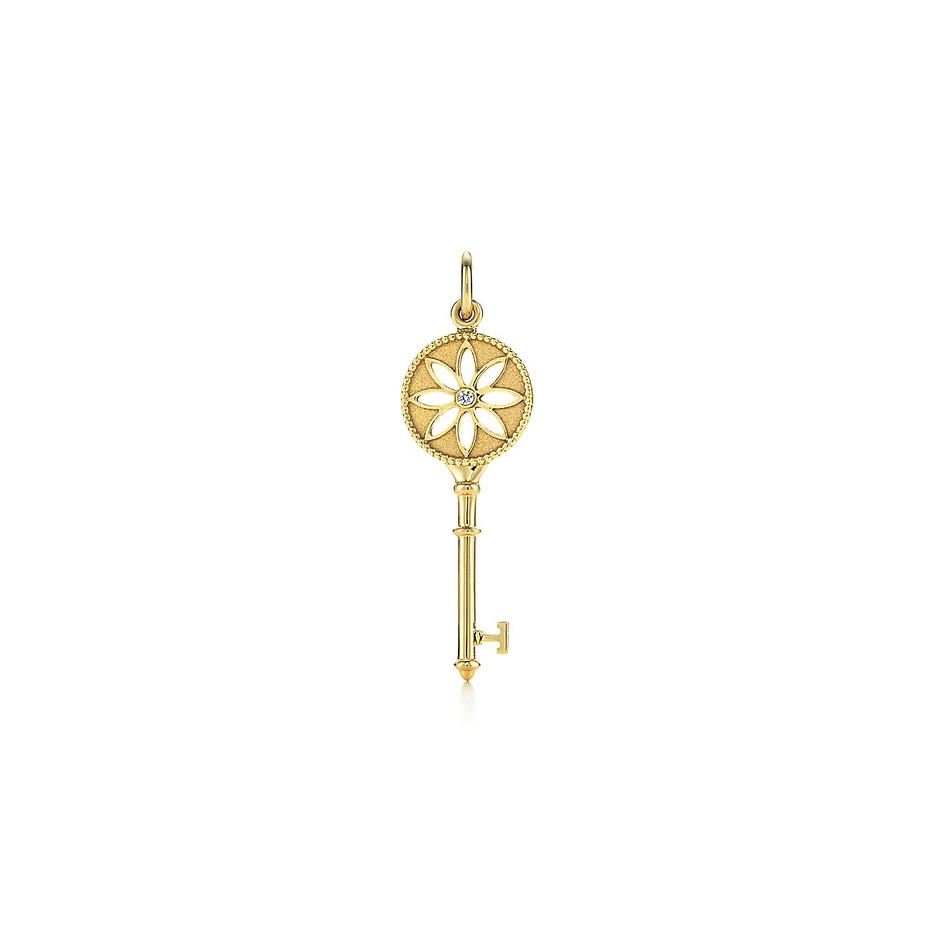 Tiffany Keys Daisy Key Pendant In 18k Gold With A Diamond Co