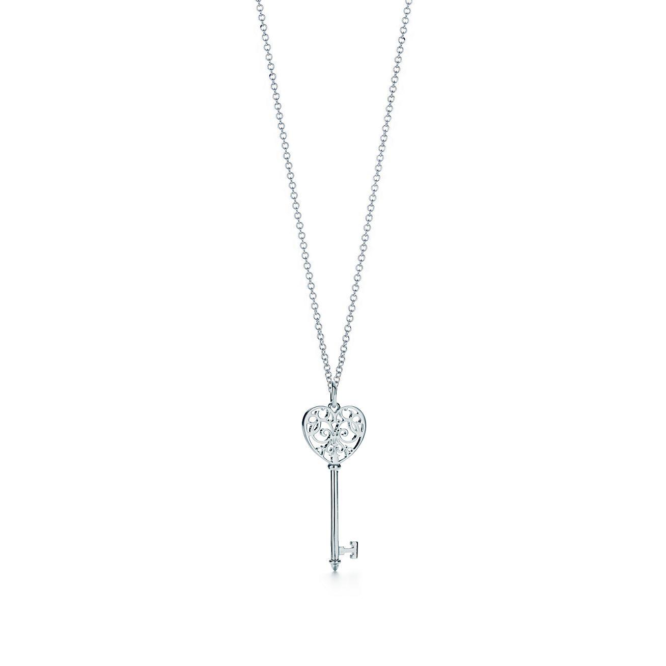 Medium tiffany enchant heart key pendant tiffany co mozeypictures Images