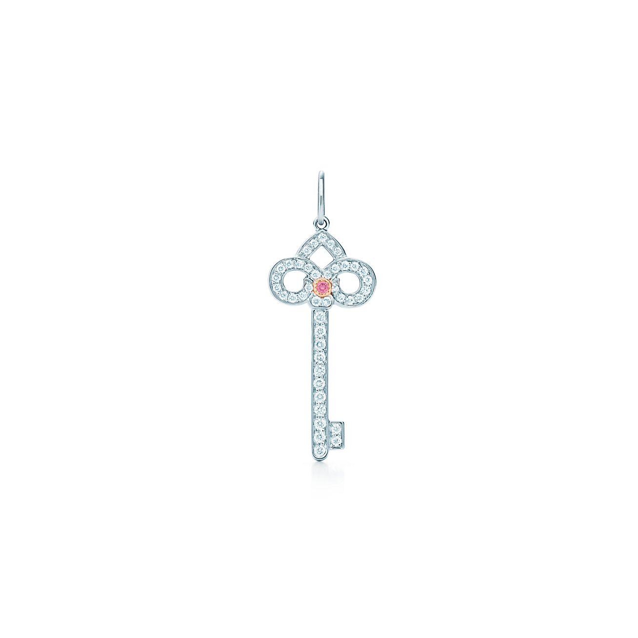 Tiffany keys fleur de lis key pendant in platinum with a diamond tiffany keysfleur de lis key pendant aloadofball Gallery