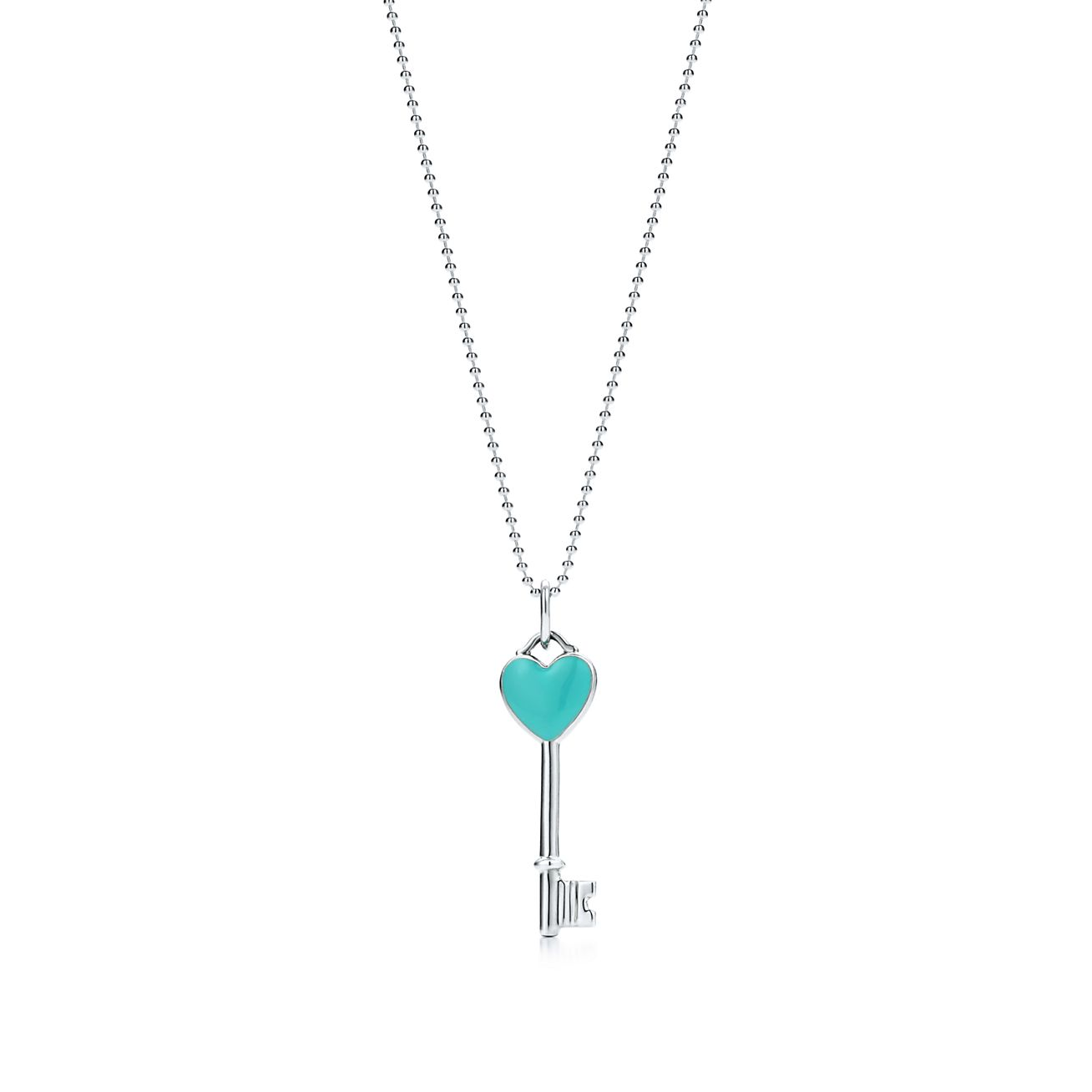 Tiffany keys heart key pendant in sterling silver mini tiffany co mozeypictures Images
