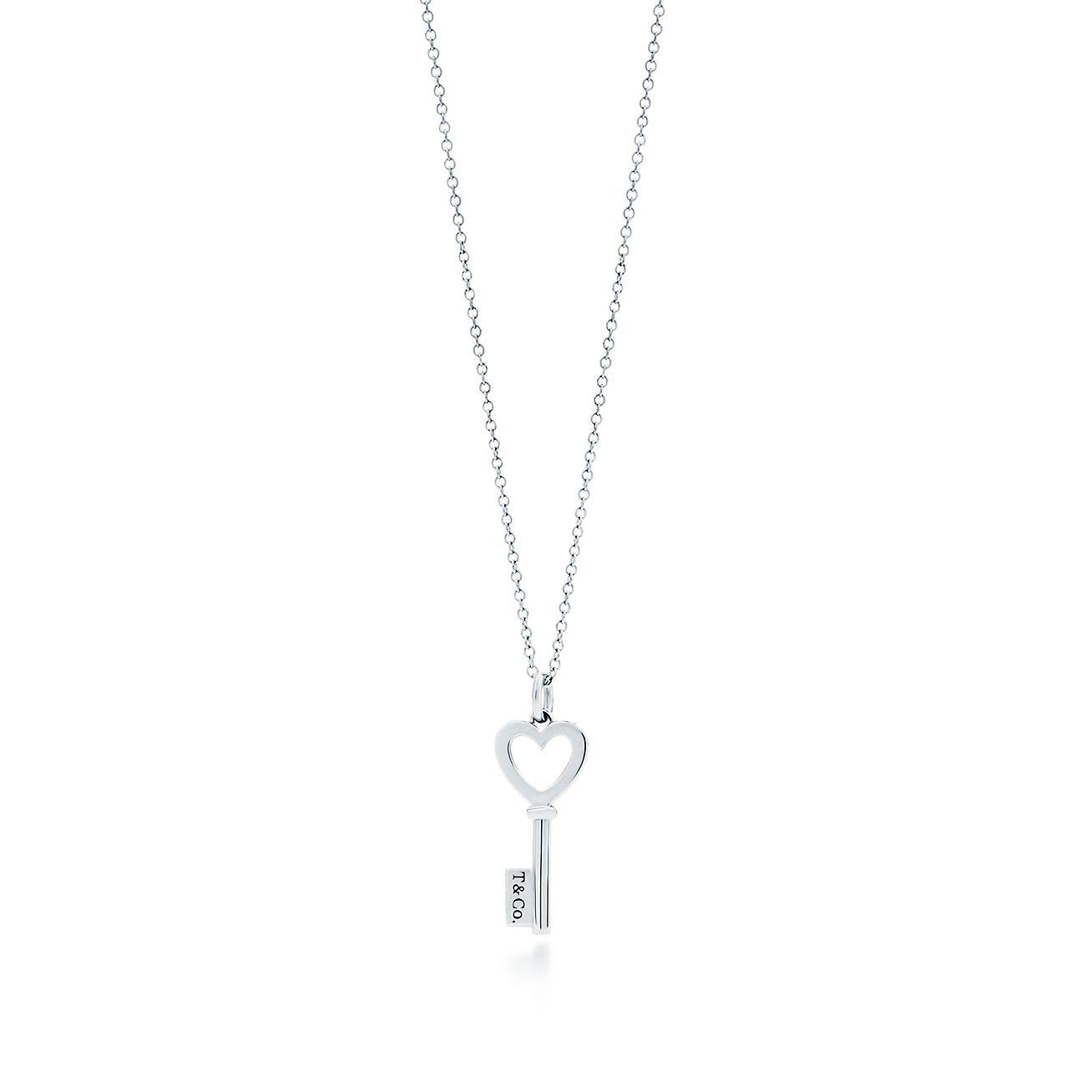 Tiffany Keys Heart Key Pendant In Sterling Silver Mini Tiffany