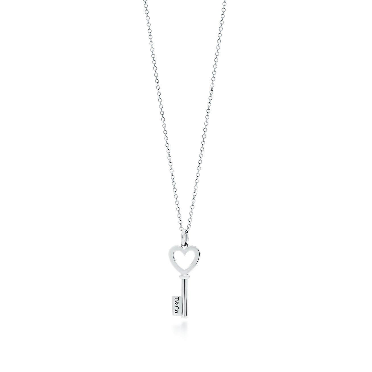 be7198004 Tiffany Keys Heart Key Pendant In Sterling Silver Mini Co