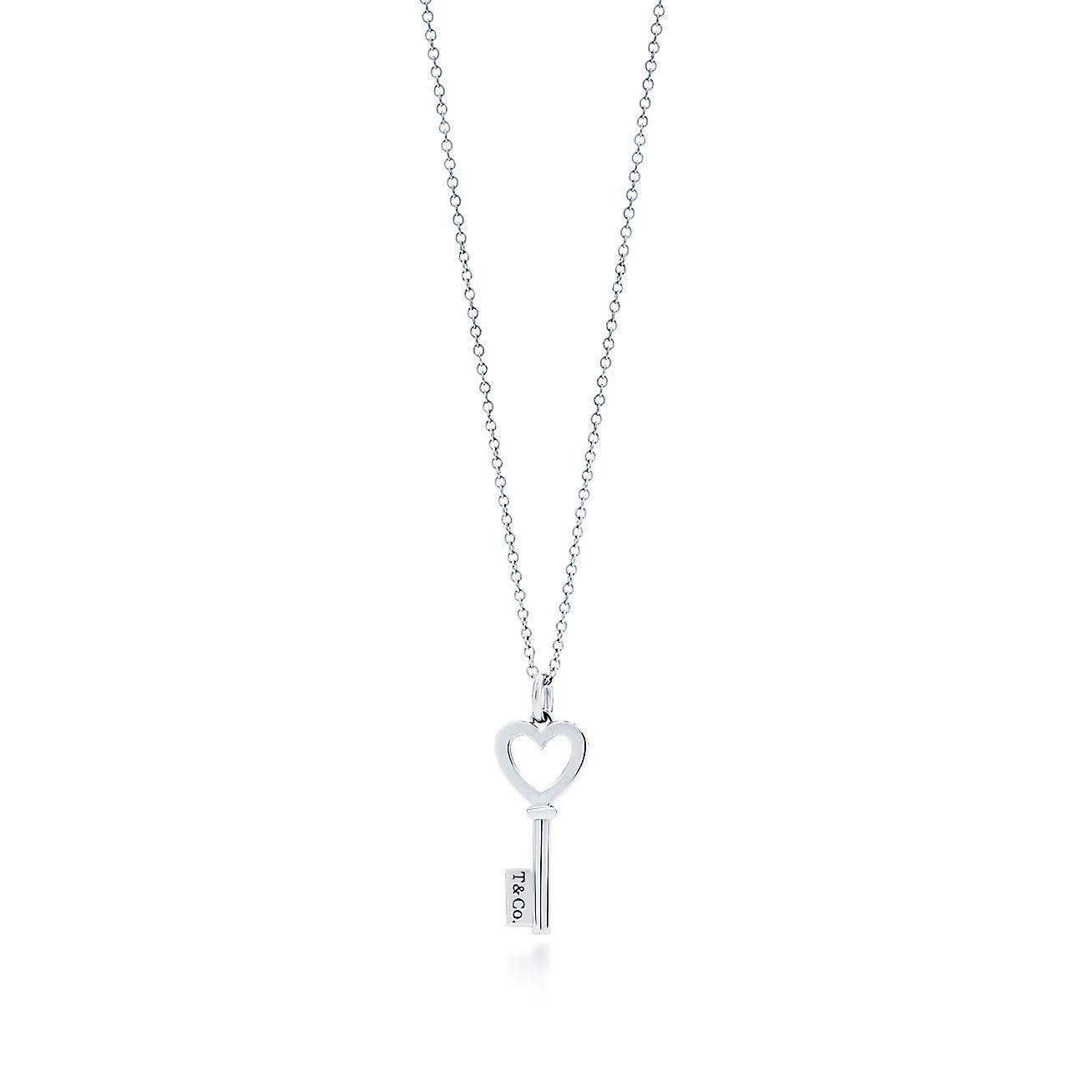 Tiffany keys heart key pendant in sterling silver mini tiffany co aloadofball Choice Image