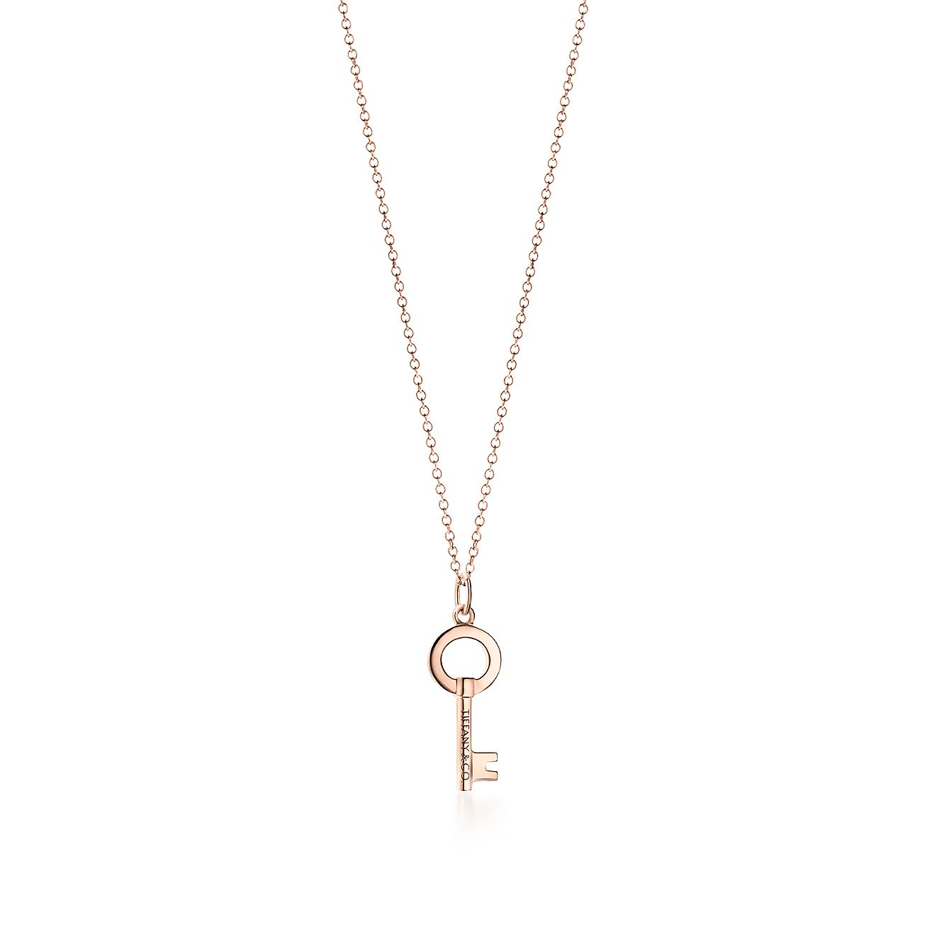 Tiffany Keys Modern Keys Open Round Key Pendant In 18k Rose Gold Mini Tiffany Co