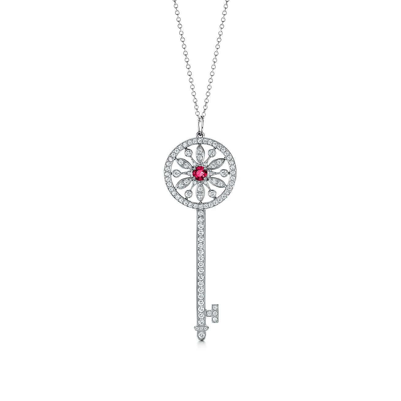 Tiffany keys round star key pendant in platinum with diamonds and tiffany keysround star key pendant aloadofball Gallery