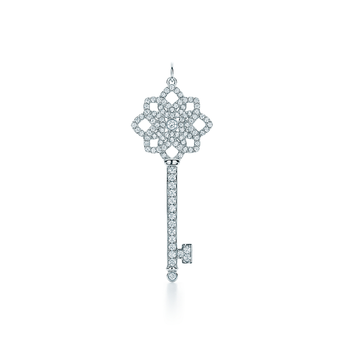 Tiffany keys woven key pendant in platinum with diamonds large deletelarge tiffany keyswoven key pendant aloadofball Gallery