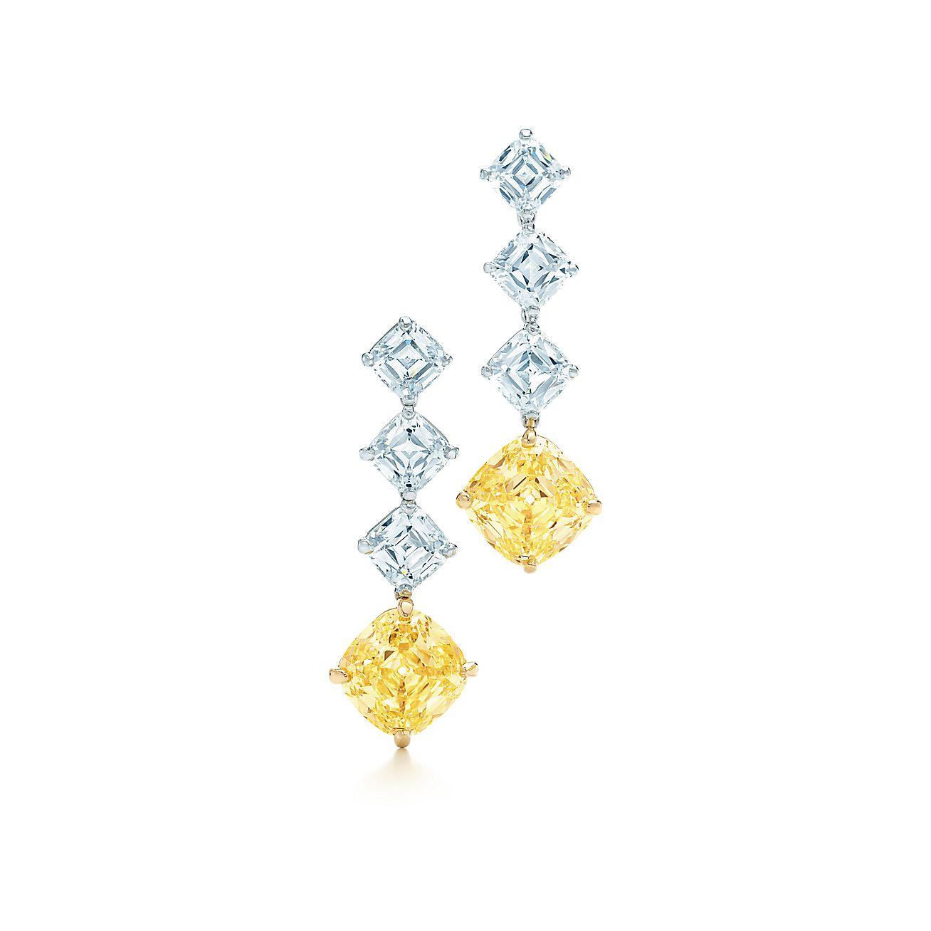 Fancy Intense Yellow Diamond Earrings