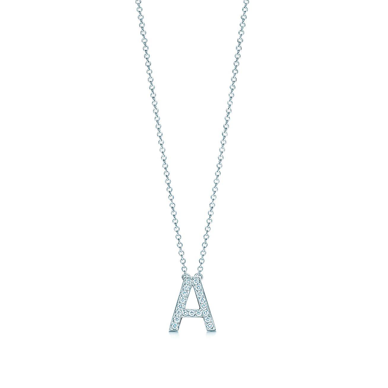 Tiffany letters pendant of diamonds in platinum mini letters a z tiffany letters pendant of diamonds in platinum mini letters a z available tiffany co aloadofball Choice Image